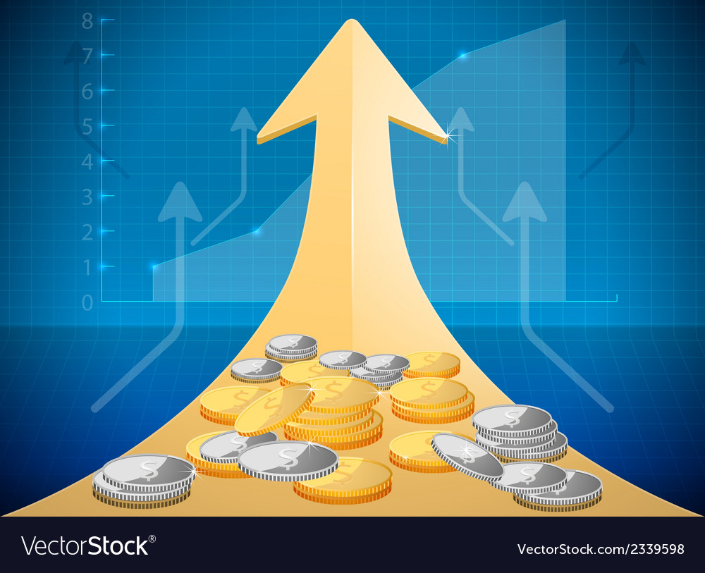 Growth market chart vector | Price: 1 Credit (USD $1)