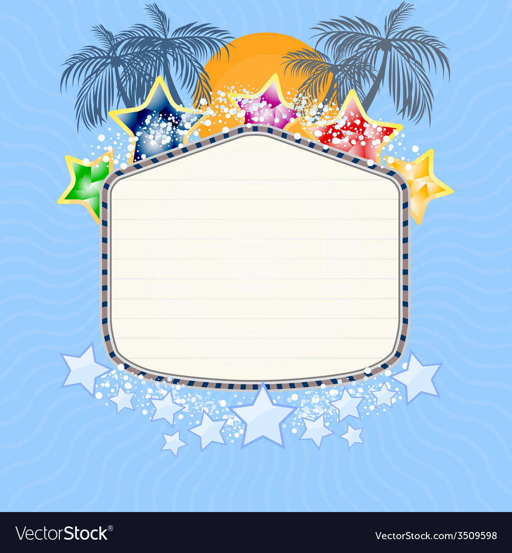 Holiday with signboard vector   Price: 1 Credit (USD $1)