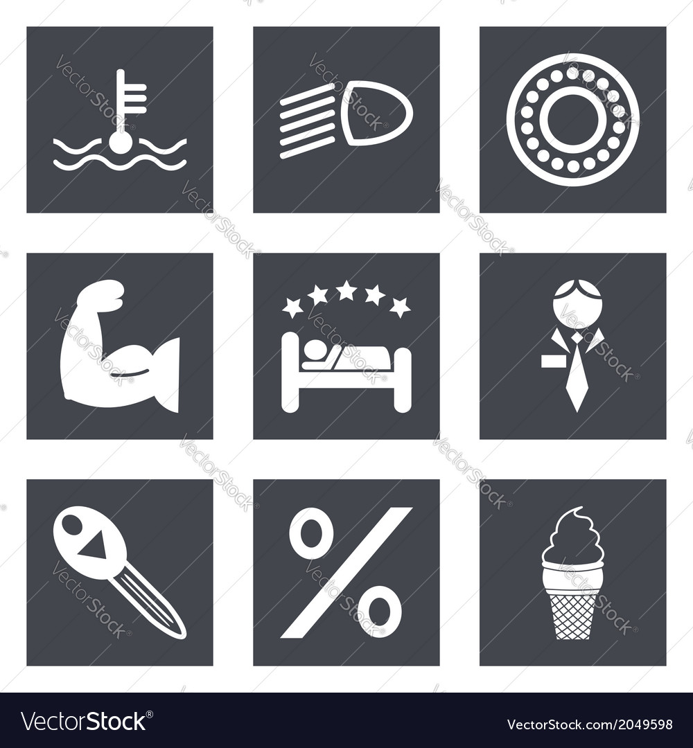 Icons for web design set 34 vector | Price: 1 Credit (USD $1)
