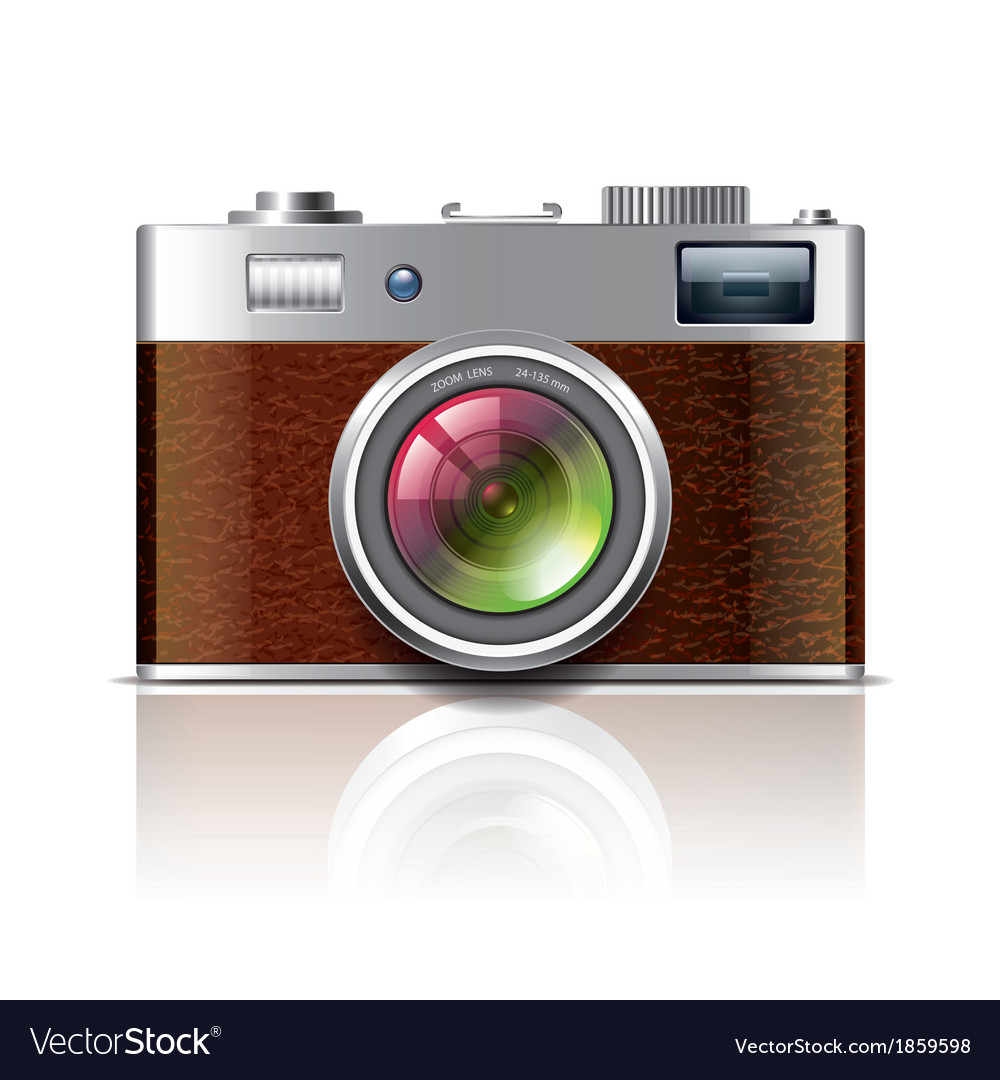 Object vintage photocamera vector | Price: 1 Credit (USD $1)