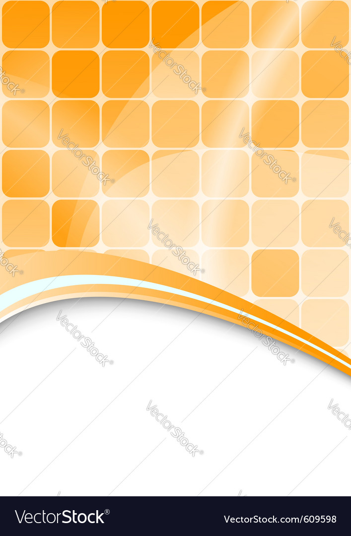 Orange abstract background with cells vector | Price: 1 Credit (USD $1)