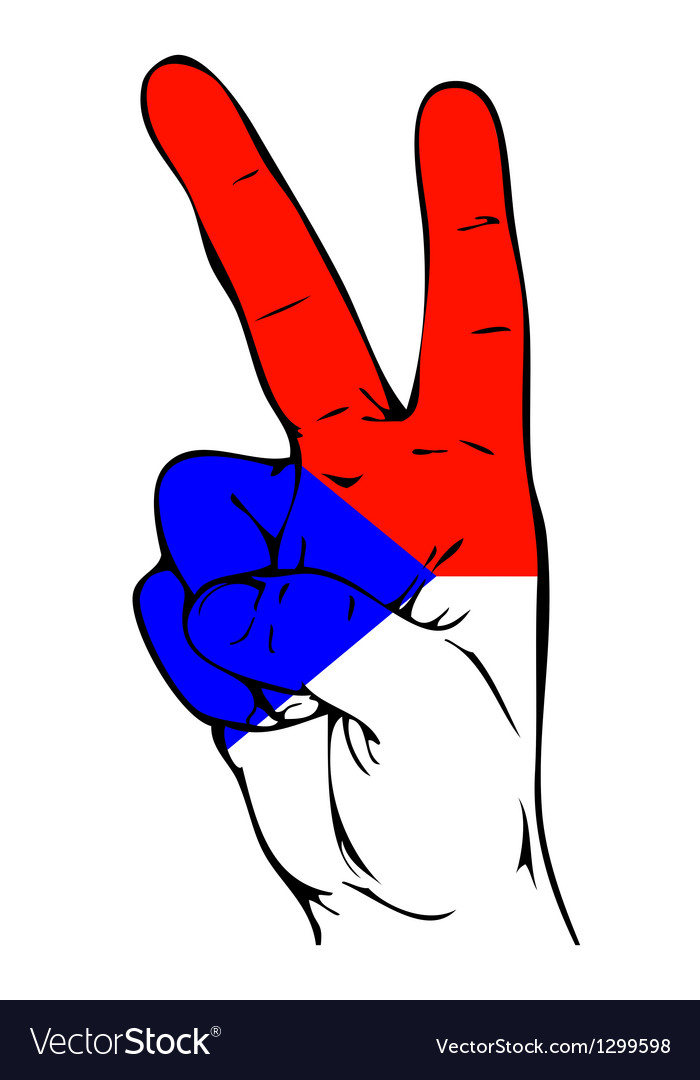 Peace sign of the czech flag vector | Price: 1 Credit (USD $1)