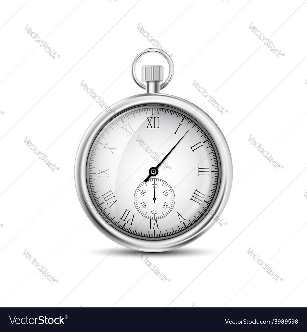 Pocket watch on a white background vector | Price: 1 Credit (USD $1)