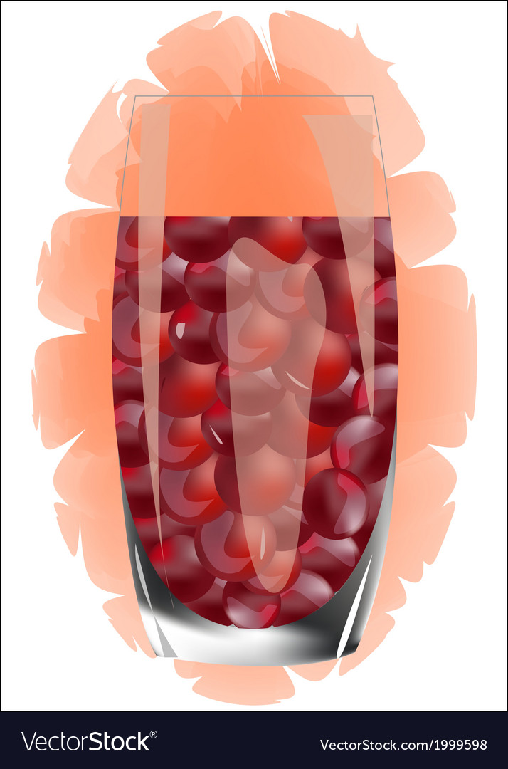 Red grape juice isolated on white vector | Price: 1 Credit (USD $1)