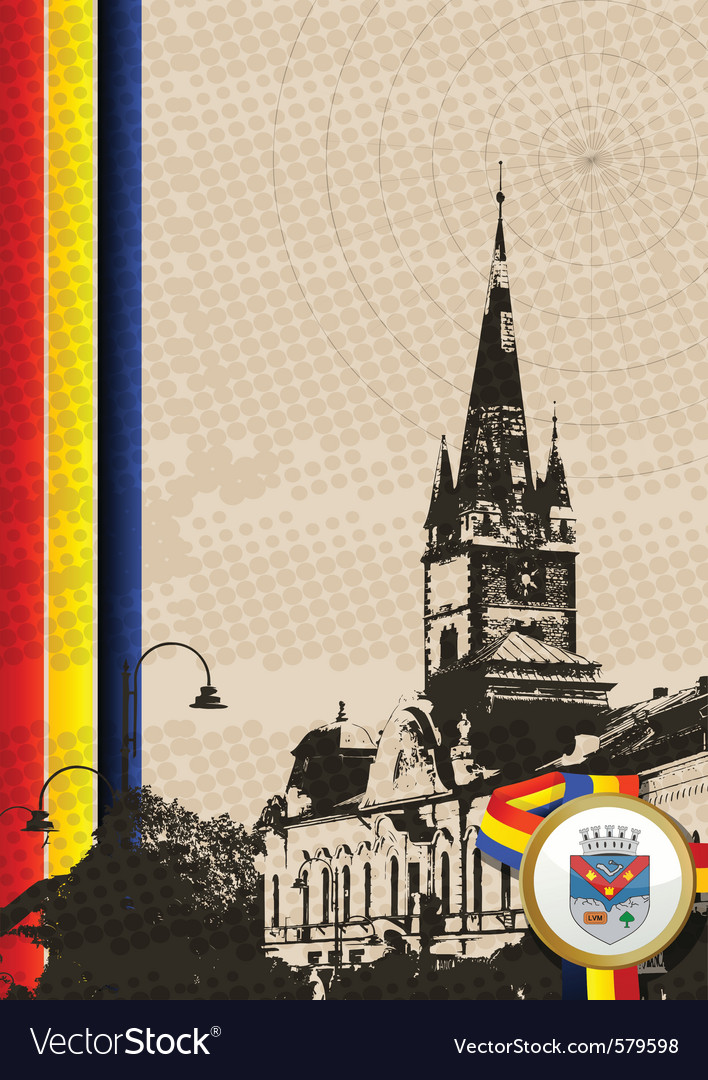 Romania church vector | Price: 1 Credit (USD $1)