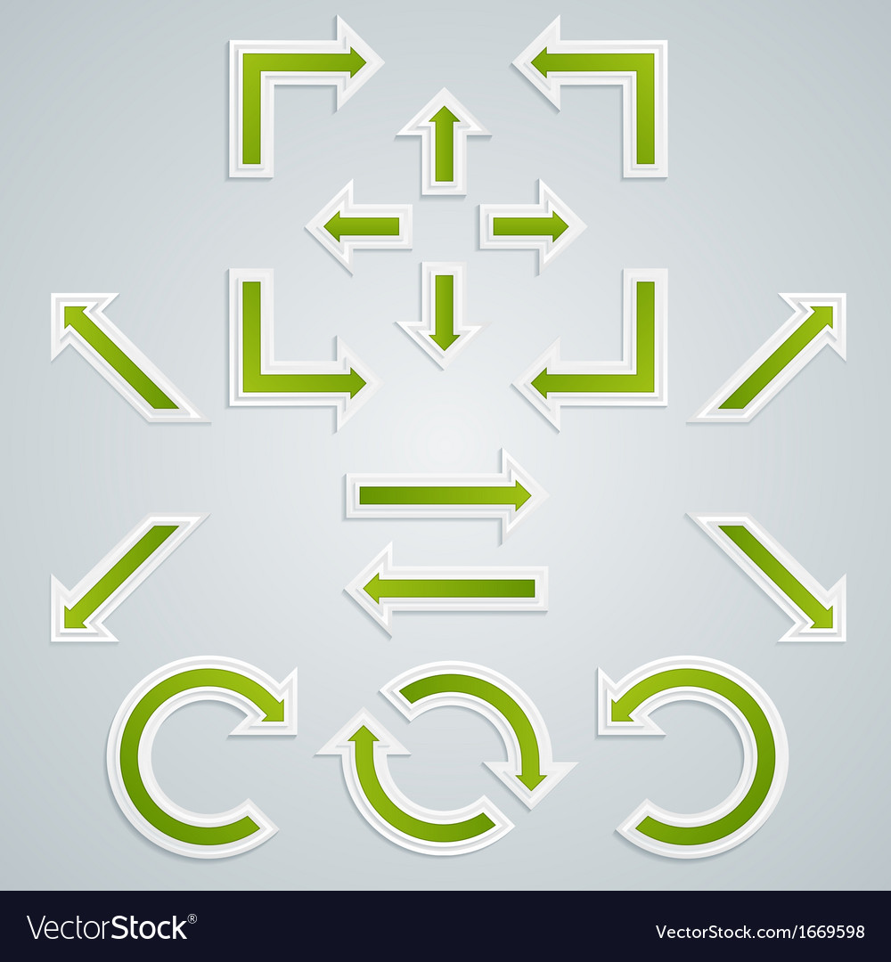 Set of green sharp shooter for infographics vector | Price: 1 Credit (USD $1)