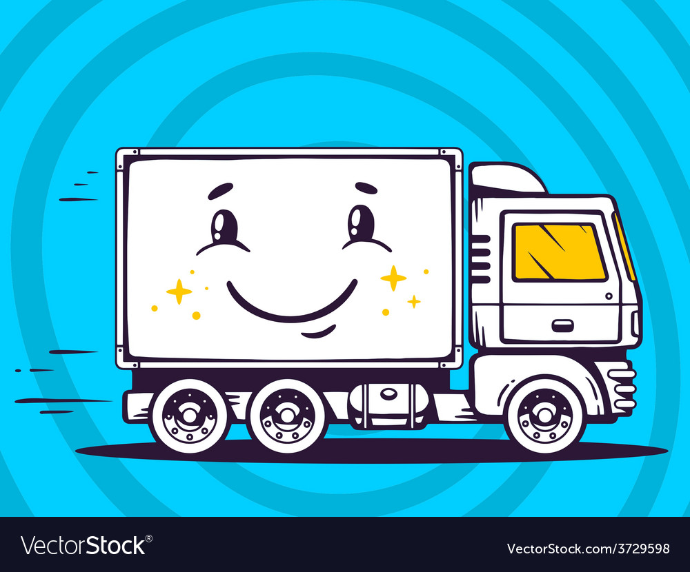 Smile truck free and fast delivering to c vector | Price: 1 Credit (USD $1)