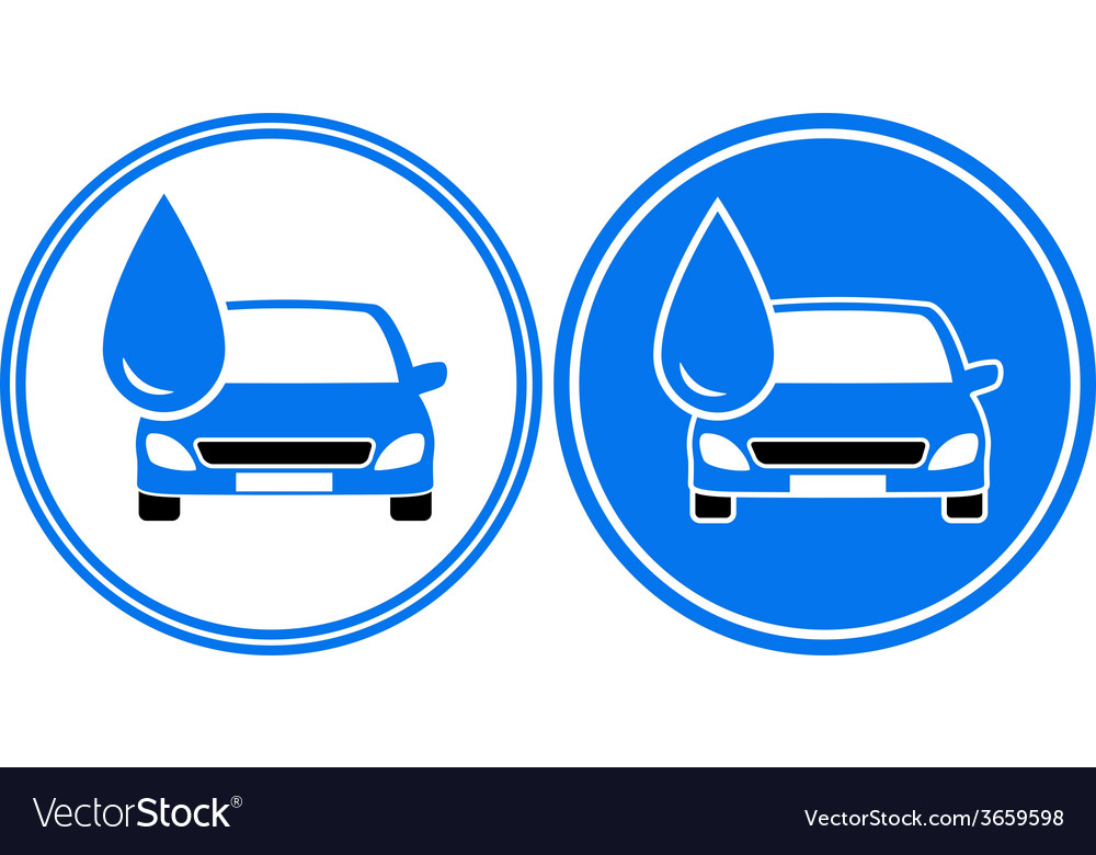 Two washing cars with water drop vector | Price: 1 Credit (USD $1)