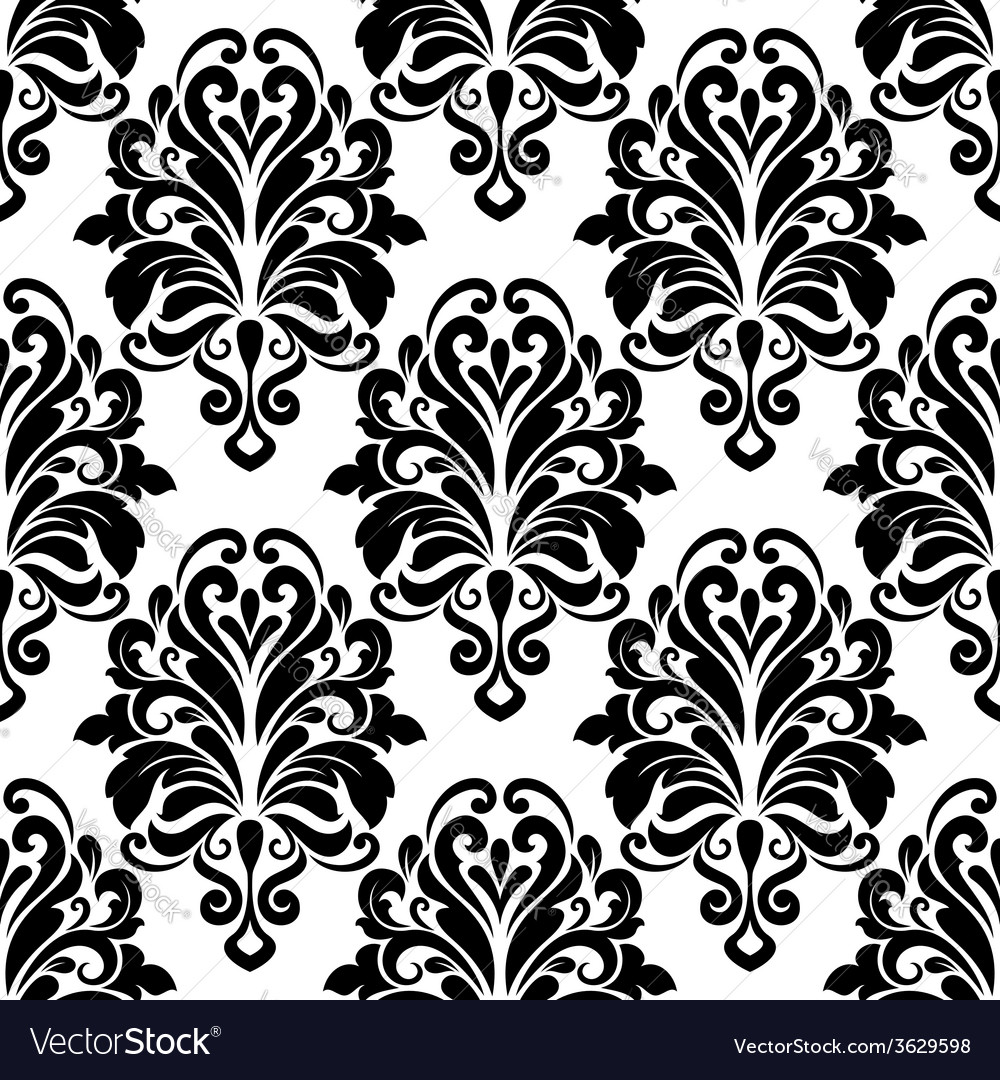 Vintage classic floral seamless pattern vector | Price: 1 Credit (USD $1)