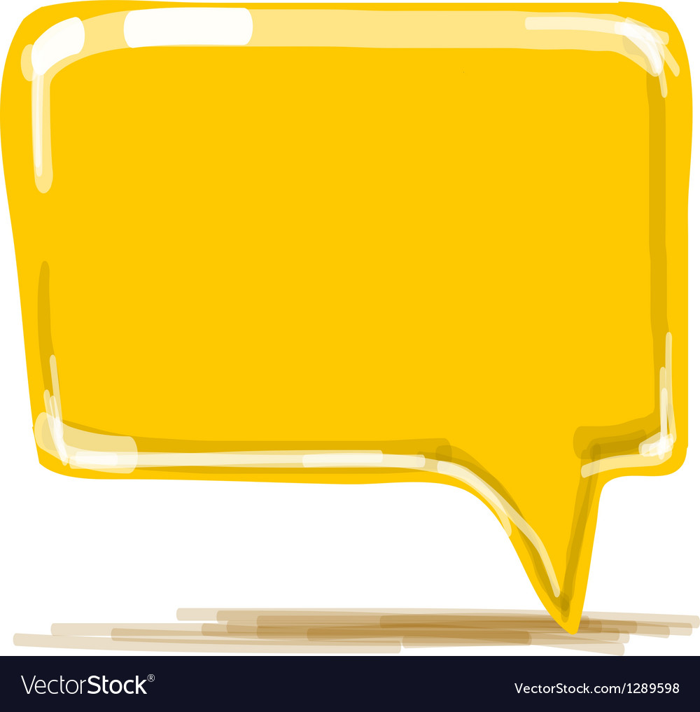 Yellow speech bubble cartoon vector | Price: 1 Credit (USD $1)