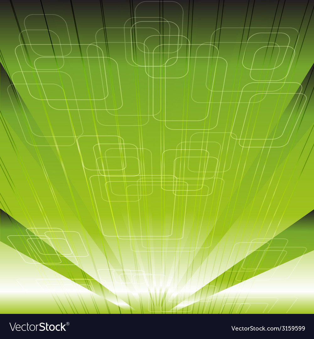 Abstract technical or technology green rays backgr vector | Price: 1 Credit (USD $1)