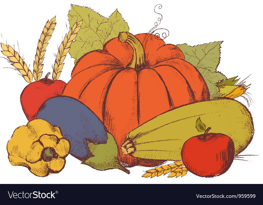 Art vegetables7 vector | Price: 1 Credit (USD $1)