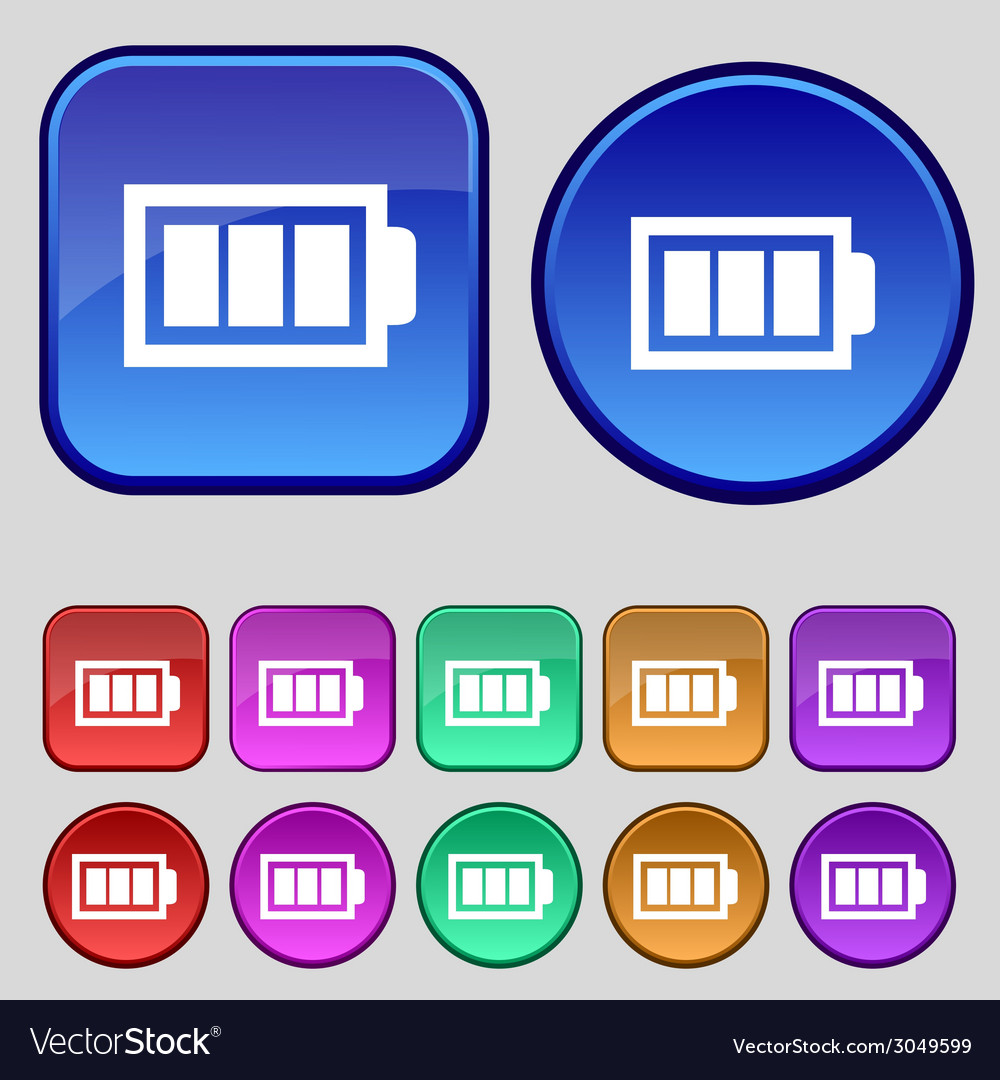 Battery fully charged sign icon electricity symbol vector   Price: 1 Credit (USD $1)