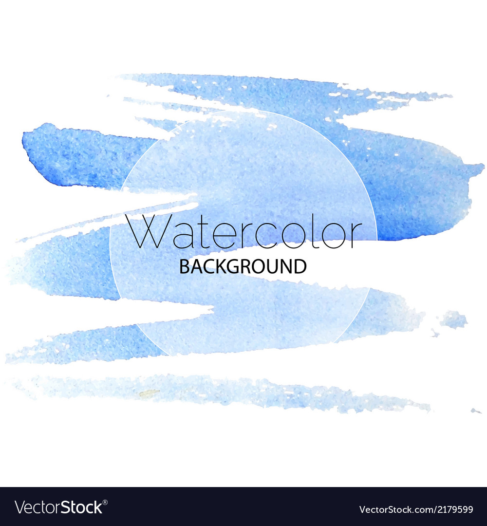 Blue watercolor background black text white circle vector | Price: 1 Credit (USD $1)
