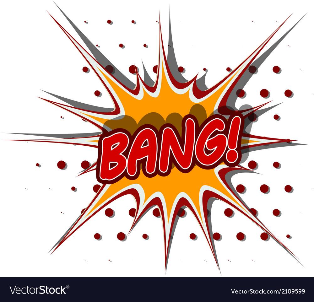 Cartoon of bang vector | Price: 1 Credit (USD $1)