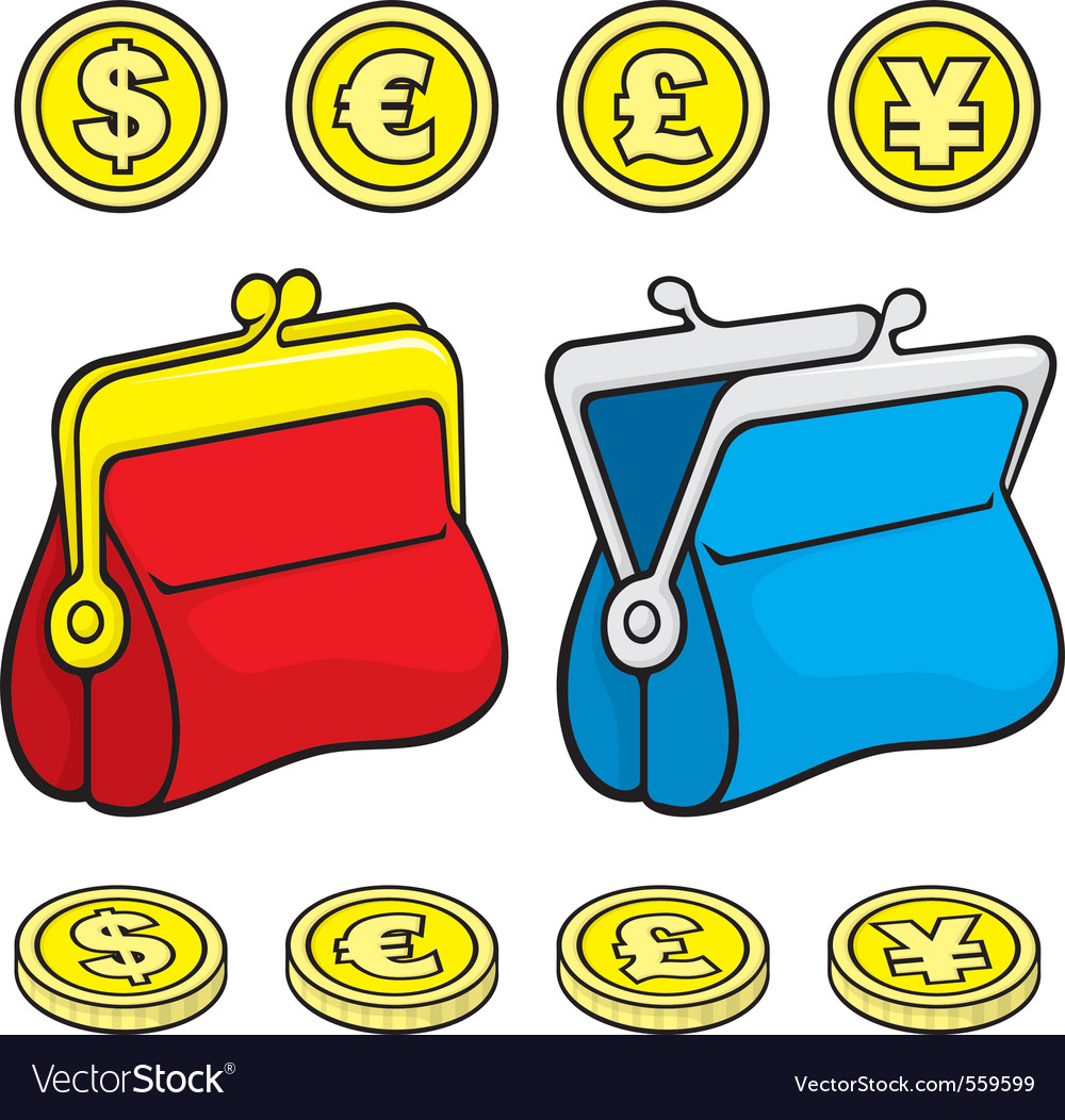 Coin purse vector | Price: 1 Credit (USD $1)