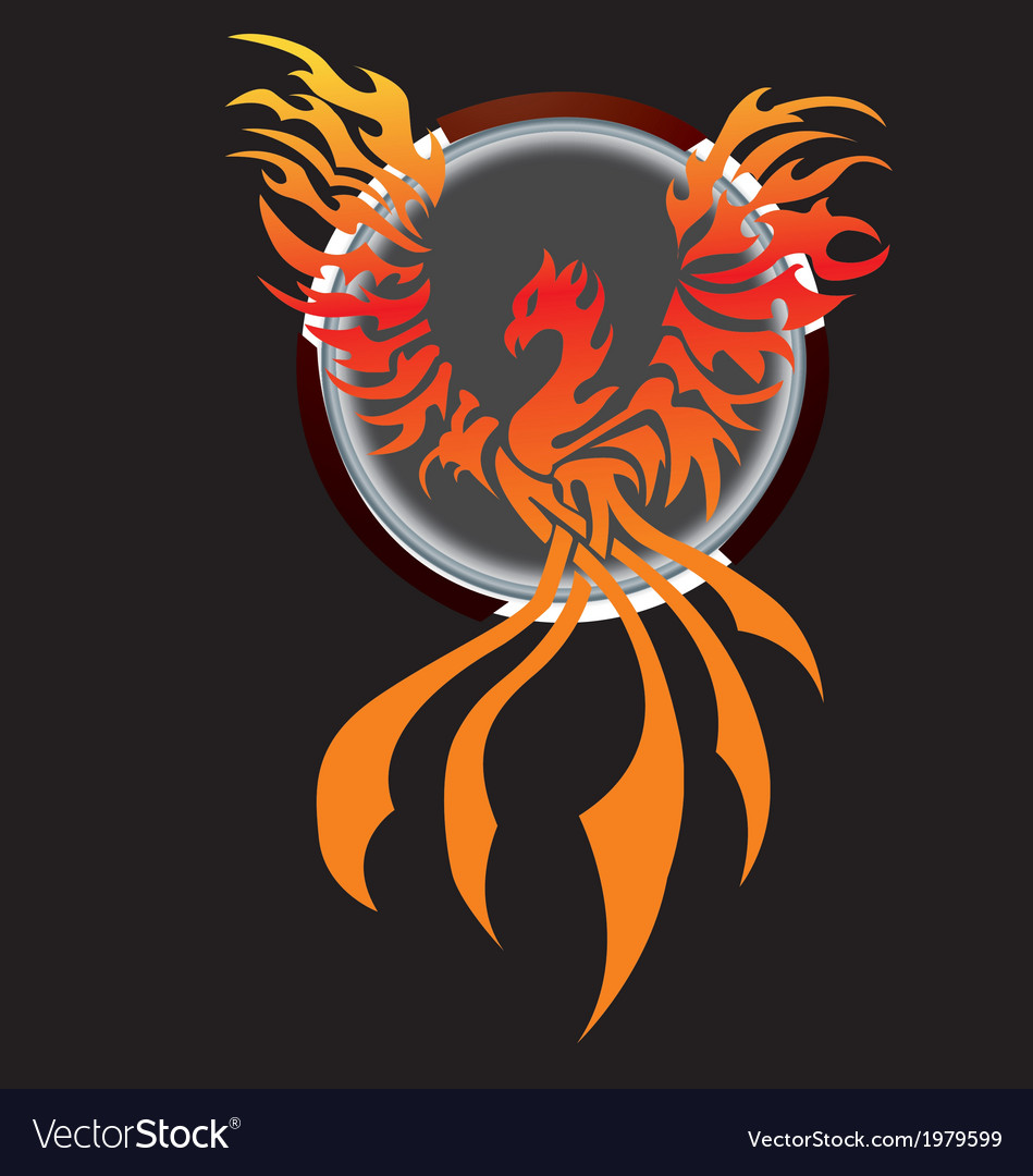Flying phoenix - chinese traditional tattoo with vector | Price: 1 Credit (USD $1)