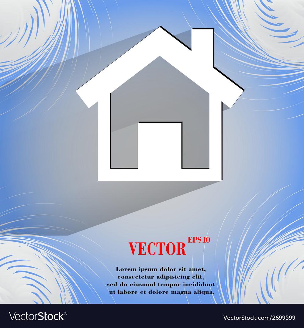 House flat modern web design on a flat geometric vector | Price: 1 Credit (USD $1)