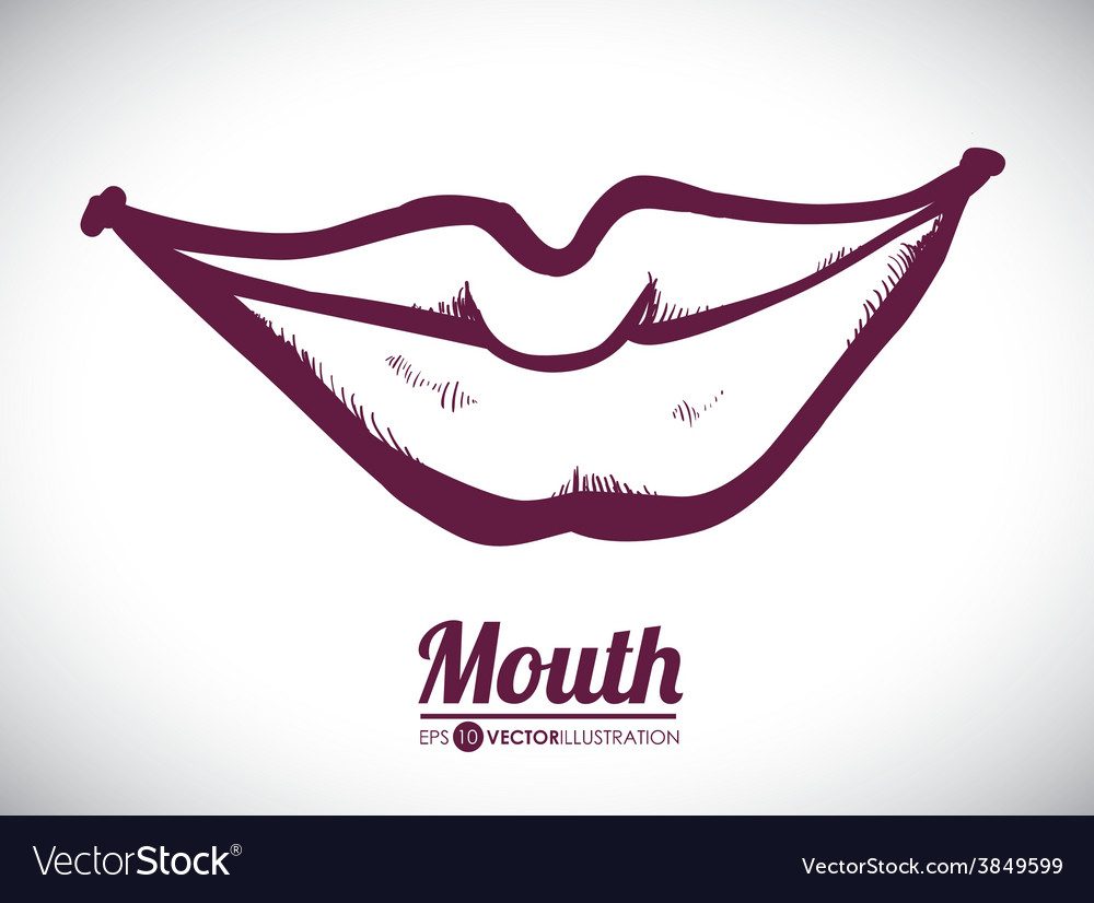 Mouth woman design vector | Price: 1 Credit (USD $1)