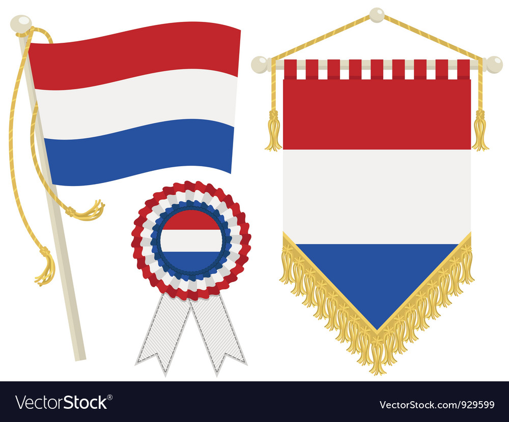 Netherlands flags vector | Price: 1 Credit (USD $1)