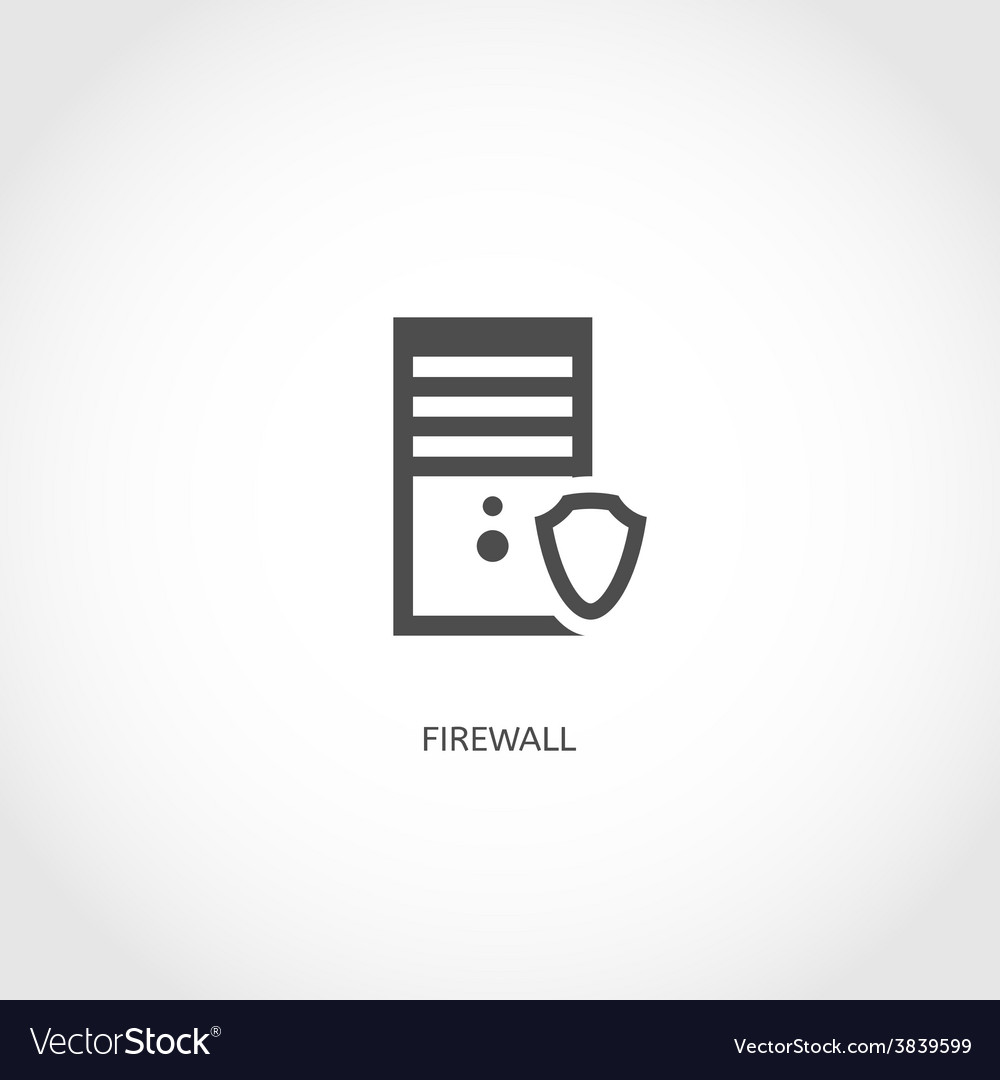 Network firewall icon vector | Price: 1 Credit (USD $1)