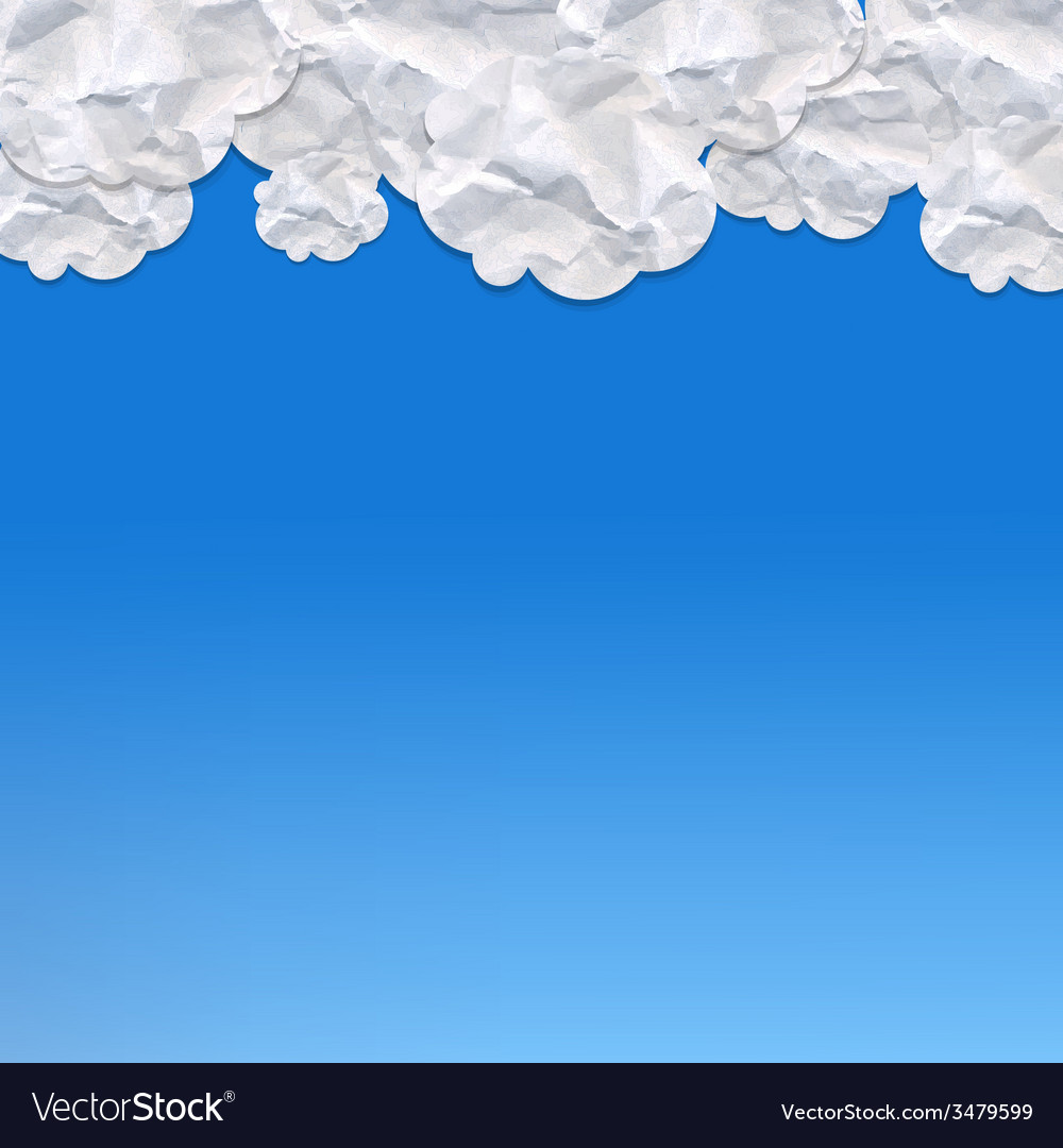 Paper clouds vector | Price: 1 Credit (USD $1)