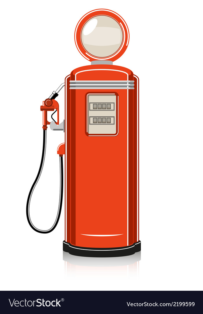 Retro gas pump vector | Price: 1 Credit (USD $1)