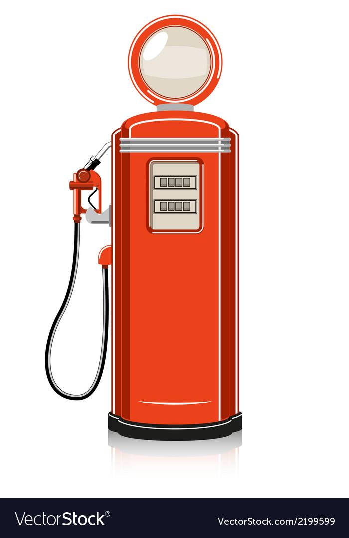 Retro gas pump vector | Price: 1 Credit (USD $1)