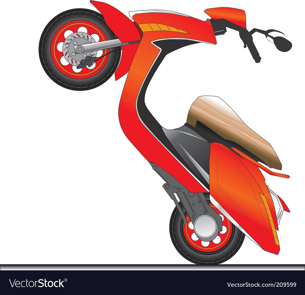 Scooter vector | Price: 3 Credit (USD $3)