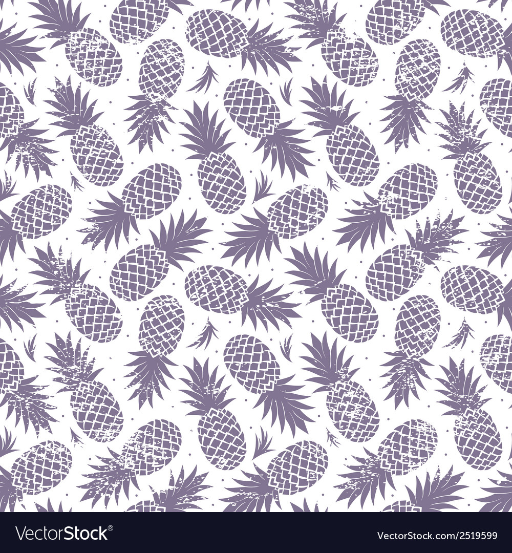 Vintage pineapple seamless vector | Price: 1 Credit (USD $1)