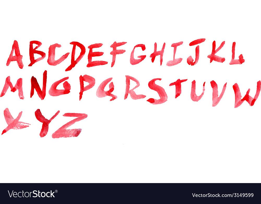 Watercolour alphabet vector | Price: 1 Credit (USD $1)