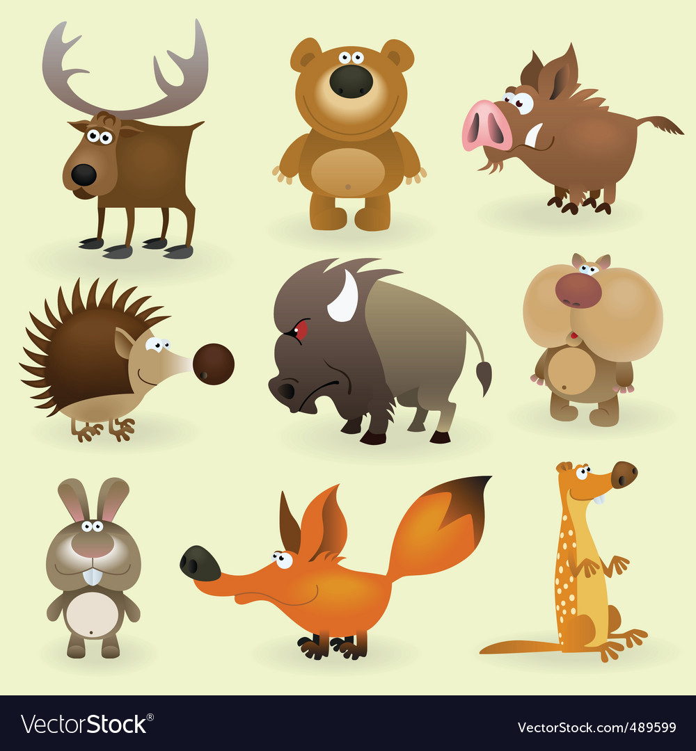 Wild animals set 2 vector | Price: 3 Credit (USD $3)