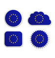 European union flag labels vector