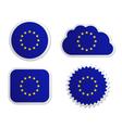 European union flag labels vector