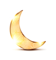Golden ornamental moon vector