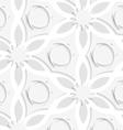 Floristic gray layering seamless vector
