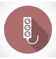 Extension cord icon vector