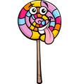 Lollipop candy cartoon vector