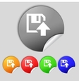 Floppy icon flat modern design set colour buttons vector