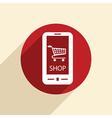 Symbol cart online store vector