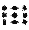 Black tag icons vector