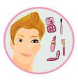 Makeup man like a woman vector