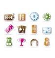 Gambling and casino icons vector