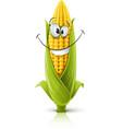 Smiling corncob vector