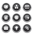 Black business office buttons vector