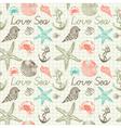 Seashells pattern background vector
