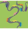 Seamless background with road and cars vector