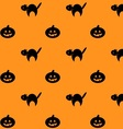 Halloween repeating background pattern vector