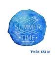 Outline summer stamp emblem vector