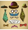 Hand drawn hipster design elements vector